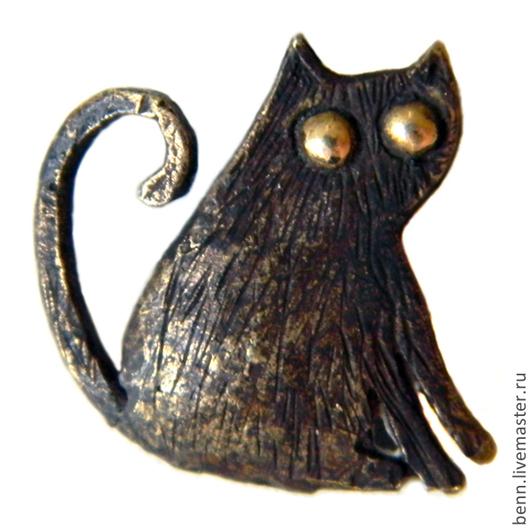 """Кулоны, подвески ручной работы. Ярмарка Мастеров - ручная работа. Купить Кулон """"Кот"""". Handmade. Кот, подарок, веселый, здоровье"""