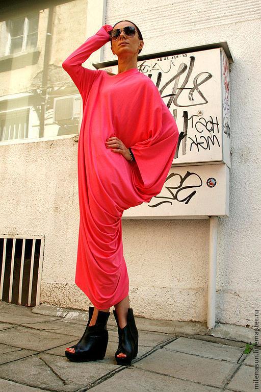 Платья ручной работы. Свободное летнее платье любых размеров. платье. Платье на лето. Длинное платье. Яркое платье.