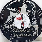 """Для дома и интерьера handmade. Livemaster - original item Wall Clock """"Michael Jackson"""". Handmade."""