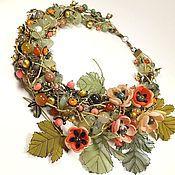 Украшения handmade. Livemaster - original item Coral Creek. Necklace and removable flower decor. Handmade.