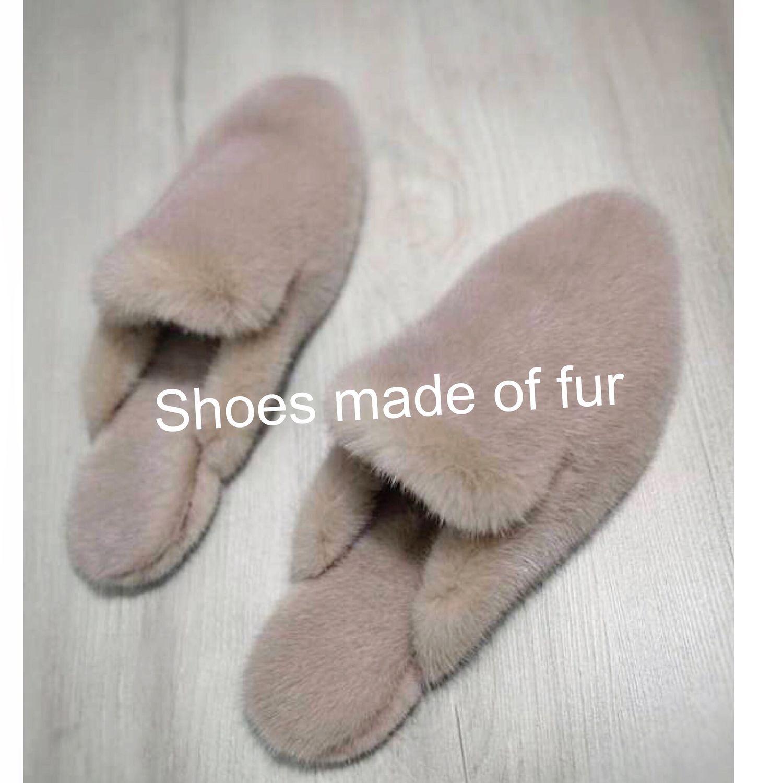 Обувь ручной работы. Ярмарка Мастеров - ручная работа. Купить Мюли из датской норки, сабо из меха. Handmade. Обувь из меха