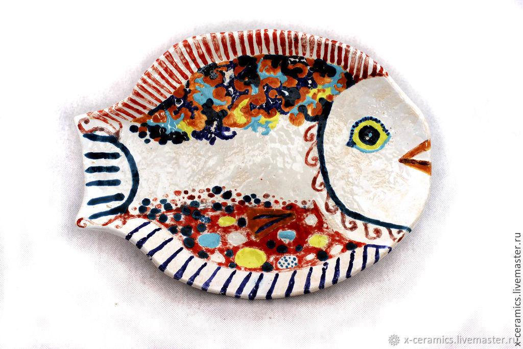 Dish ceramic Vivid fish, Plates, Moscow,  Фото №1