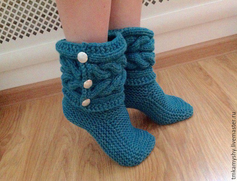 Вязание носков как сапожки 648