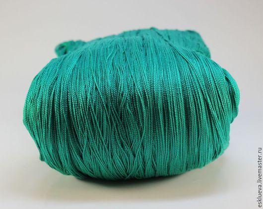 Вязание ручной работы. Ярмарка Мастеров - ручная работа. Купить Хлопок мерсериз. Ирис в пасмах, 300 гр, темно-бирюзовый (3514). Handmade.