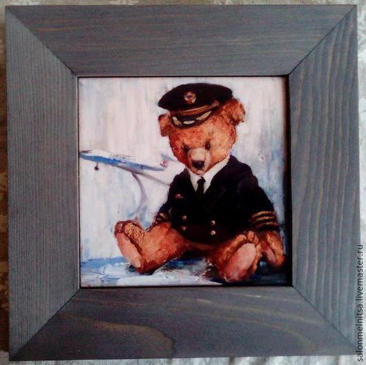 Репродукции ручной работы. Ярмарка Мастеров - ручная работа. Купить Тедди пилот. Handmade. Тедди мишка, керамика ручной работы