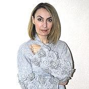 """Одежда ручной работы. Ярмарка Мастеров - ручная работа Кардиган-пальто """"Цветы"""". Handmade."""