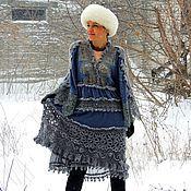 Одежда ручной работы. Ярмарка Мастеров - ручная работа Зимнее БОХО платье (№31). Handmade.