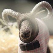 Куклы и игрушки handmade. Livemaster - original item Lamb. Felt toy aries (brown, felted ram). Handmade.