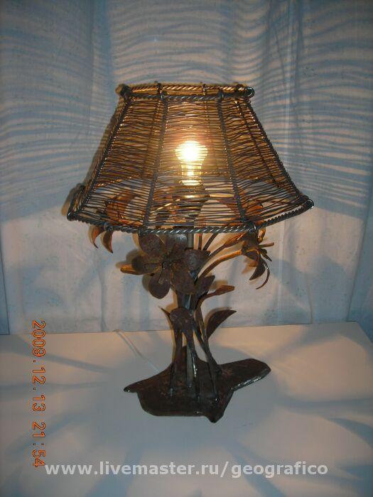 Освещение ручной работы. Ярмарка Мастеров - ручная работа. Купить Настольная лампа. Handmade. Золотой, интерьер, лампа настольная, дом
