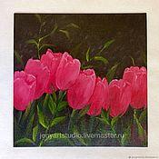 Картины и панно handmade. Livemaster - original item Oil painting flowers