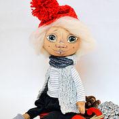 Куклы и игрушки ручной работы. Ярмарка Мастеров - ручная работа Тыквоголовка Егорка на саночках. Handmade.