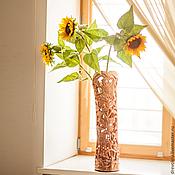 """Для дома и интерьера ручной работы. Ярмарка Мастеров - ручная работа Ваза деревянная """"Солнечное настроение"""". Handmade."""