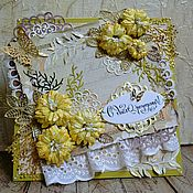 Открытки ручной работы. Ярмарка Мастеров - ручная работа Открытка на день рождения, годовщину, свадьбу, любимой девушке. Handmade.