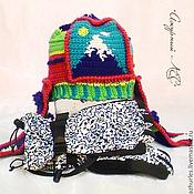 Folk decorations handmade. Livemaster - original item Warm winter wool hat with ear Mount. Handmade.