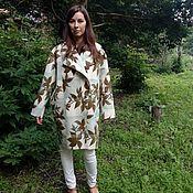 Одежда handmade. Livemaster - original item Light coat oversized Sheets. Handmade.