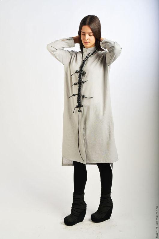 Платья ручной работы. Ярмарка Мастеров - ручная работа. Купить Льняная рубашка /платье  B0057. Handmade. Женская рубашка