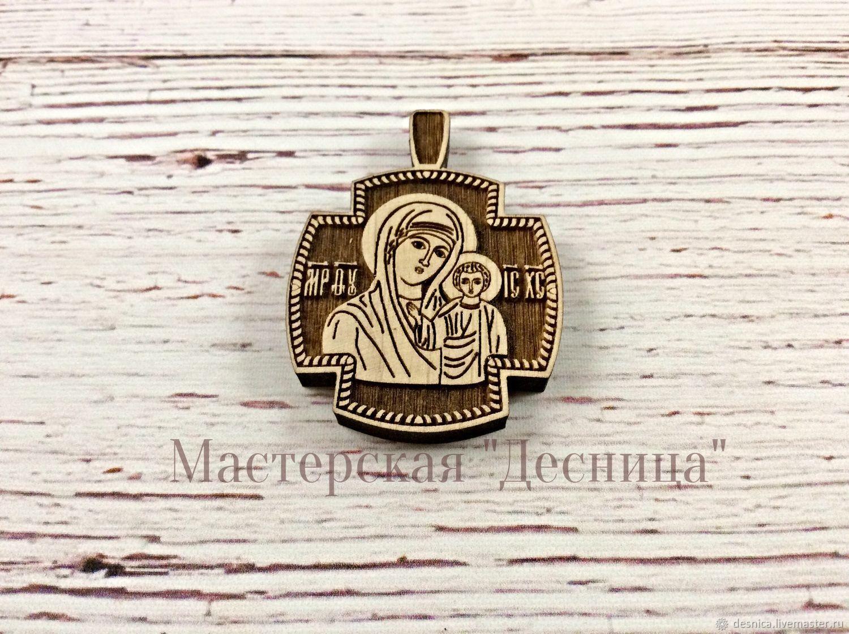 Крестик нательный деревянный (Богородица), Крестик, Симферополь,  Фото №1