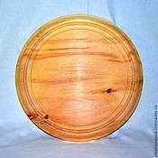 Материалы для творчества handmade. Livemaster - original item Plate for painting 38 cm. Siberian Cedar Blank for painting T2. Handmade.