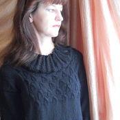 Одежда ручной работы. Ярмарка Мастеров - ручная работа Черный ажур Платье Туника. Handmade.