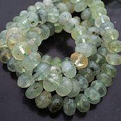 Материалы для творчества handmade. Livemaster - original item Prehnite beads faceted roundels, 10mm. Handmade.