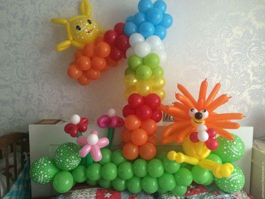 Персональные подарки ручной работы. Ярмарка Мастеров - ручная работа. Купить Цифры из воздушных шаров. Handmade. Комбинированный, воздушный шар