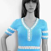 """Одежда handmade. Livemaster - original item Вязаная женская кофта """"Поло"""" Стиль 50-х. Handmade."""
