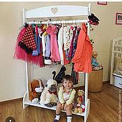 Для дома и интерьера ручной работы. Ярмарка Мастеров - ручная работа Вешалка-гардероб для детской. Handmade.
