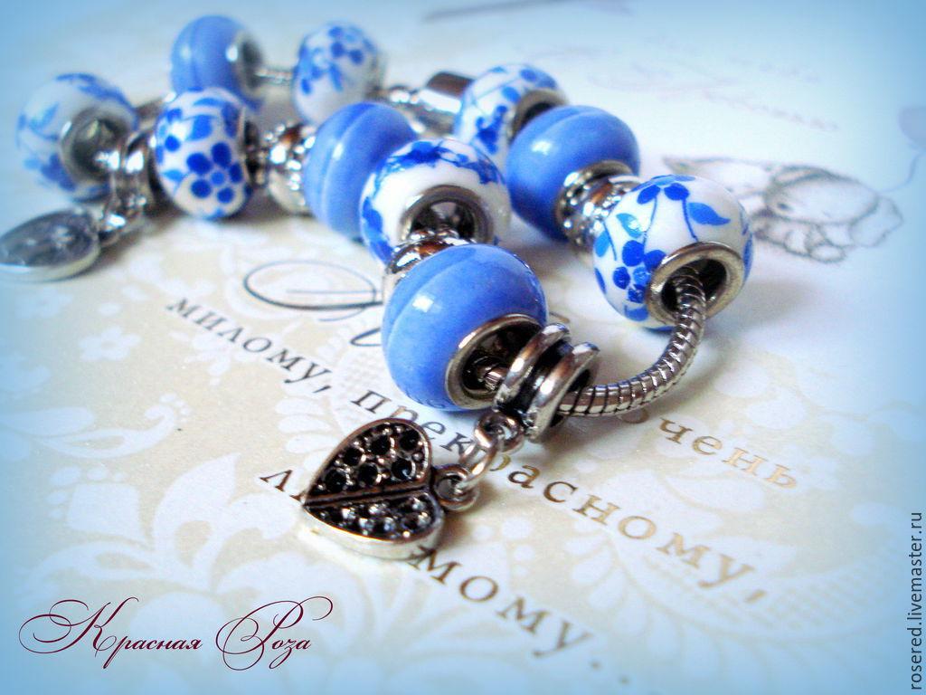 Bracelet 'Spring drops', Bead bracelet, Stupino,  Фото №1