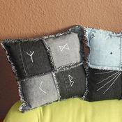 Для дома и интерьера ручной работы. Ярмарка Мастеров - ручная работа Декоративные подушки из джинсы. Handmade.
