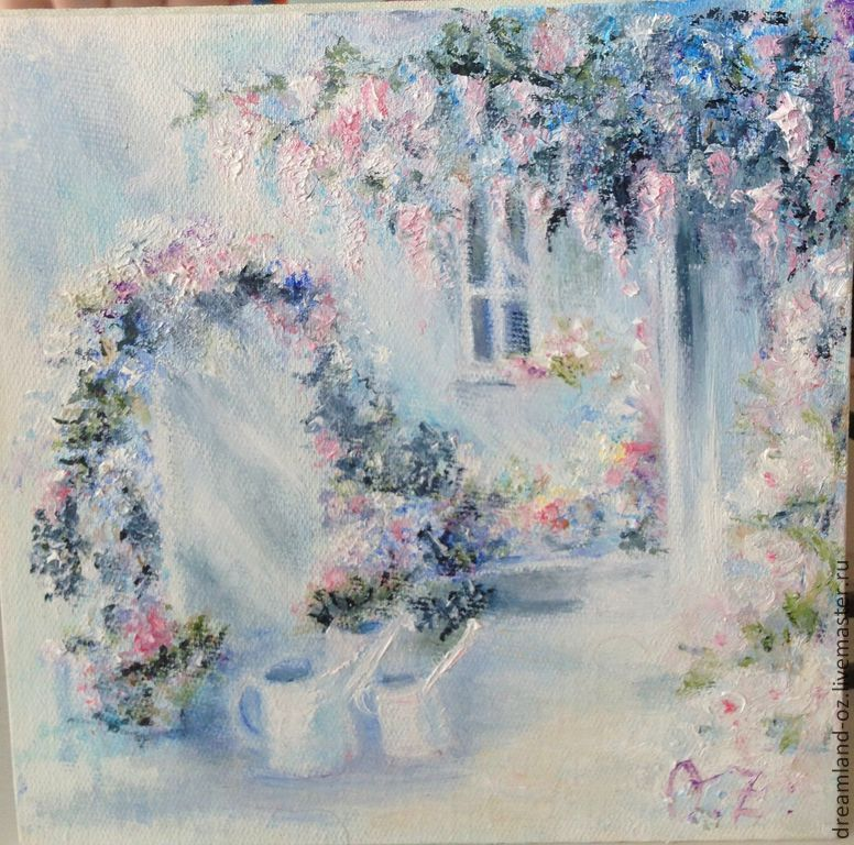 Oil painting 'When the Wisteria blooms', Pictures, Vladivostok,  Фото №1