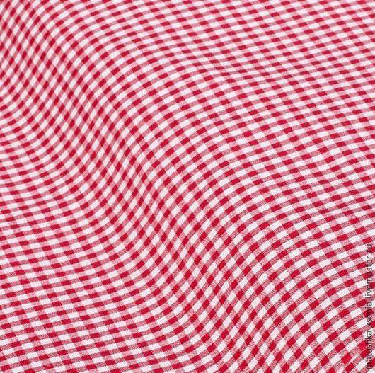 """Шитье ручной работы. Ярмарка Мастеров - ручная работа. Купить Ткань Германия """" Темно-красная клетка """" Новый год. Handmade."""