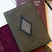 Канцелярские товары ручной работы. Ярмарка Мастеров - ручная работа Обложка для паспорта. Handmade.