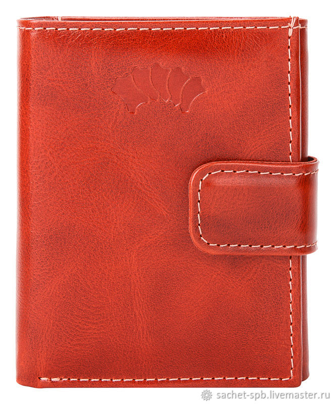 Leather purse 'Germany' (red), Wallets, St. Petersburg,  Фото №1