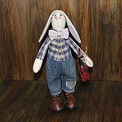 Куклы и игрушки ручной работы. Ярмарка Мастеров - ручная работа Заяц-скрипач. Handmade.