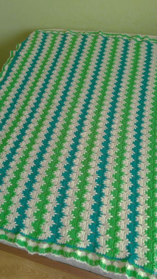 Пледы и одеяла ручной работы. Ярмарка Мастеров - ручная работа. Купить Детский плед, вязаный крючком. Handmade. Комбинированный