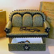 """Для дома и интерьера ручной работы. Ярмарка Мастеров - ручная работа Шкатулка-диванчик """"Изюминка"""". Handmade."""