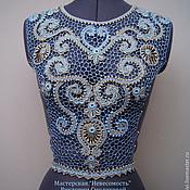 Одежда ручной работы. Ярмарка Мастеров - ручная работа Кокетка для платья. Handmade.