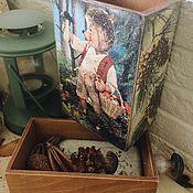 Для дома и интерьера ручной работы. Ярмарка Мастеров - ручная работа Время грибов - короб с ежиком Mecki. Handmade.