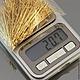 Пины из латуни с петлей | глазком | кольцом на конце длиной 40 мм из проволоки 0,5 мм на вес по 20 грамм | около 260 штук | для сборки украшений с покрытием под золото
