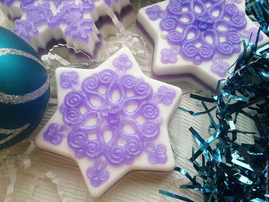 """Мыло ручной работы. Ярмарка Мастеров - ручная работа. Купить Новогоднее мыло ручной работы """"Северная звезда"""". Handmade."""