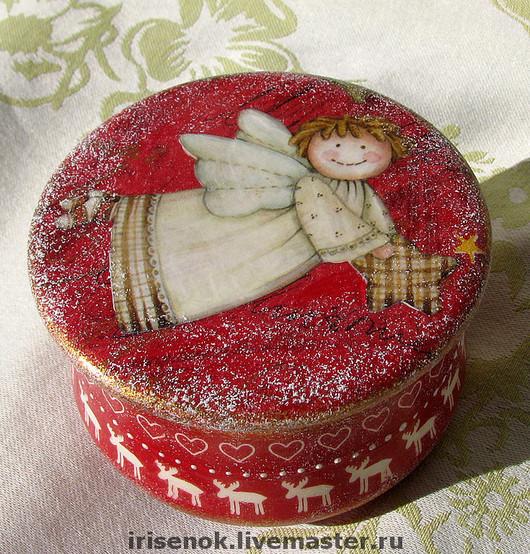 New Year 2017 handmade. Livemaster - handmade. Buy 'Snow angel' box.Christmas, decoupage, angel's day