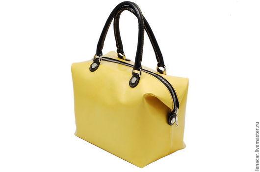 Женские сумки ручной работы. Ярмарка Мастеров - ручная работа. Купить Женская кожаная сумка-трансформер  215. Handmade. Желтый