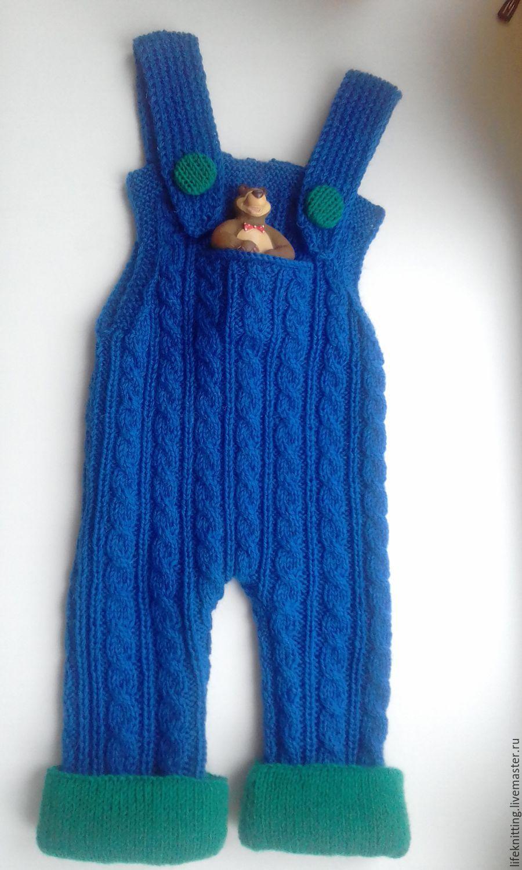 ручной работы. Ярмарка Мастеров - ручная работа. Купить штанишки вязаные. Handmade. Вязаный костюм, с карманами