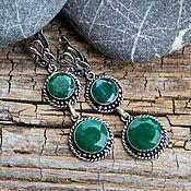 Украшения handmade. Livemaster - original item A pair of emerald