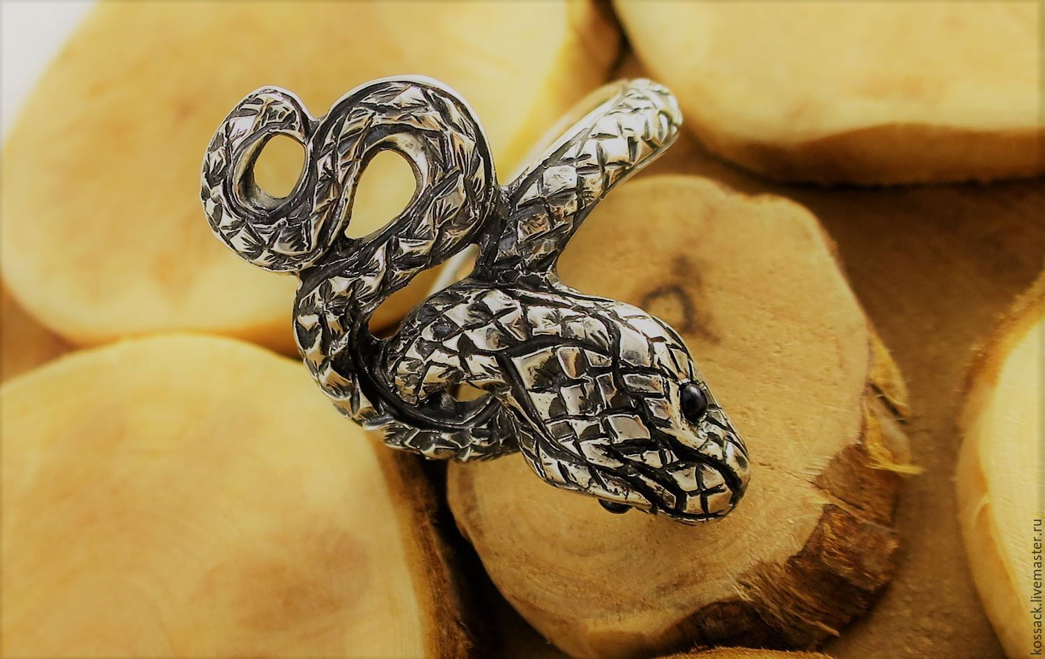 Snake ring unisex unique handcrafted ring, Rings, Zaporozhye,  Фото №1