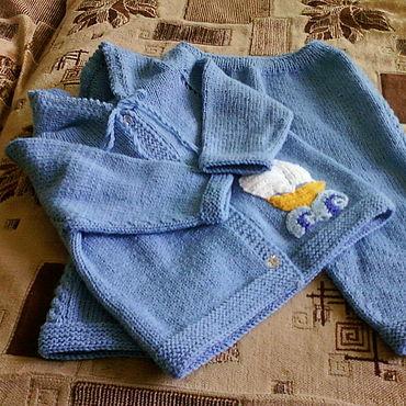 Товары для малышей ручной работы. Ярмарка Мастеров - ручная работа Одежда: Комплект Кораблик на волнах. Handmade.