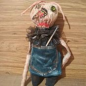 Чердачная кукла ручной работы. Ярмарка Мастеров - ручная работа Чердачная кофейная кукла. Handmade.
