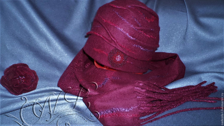 Felt kit ' Berry Mix.. !!! '(cap +scarf..), Headwear Sets, Belovo,  Фото №1