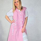 Одежда ручной работы. Ярмарка Мастеров - ручная работа Комплект -лен, хлопок(сарафан, юбка, блуза). Handmade.