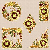 Материалы для творчества handmade. Livemaster - original item Machine Embroidery Designs Set of Slavic Motifs. Handmade.